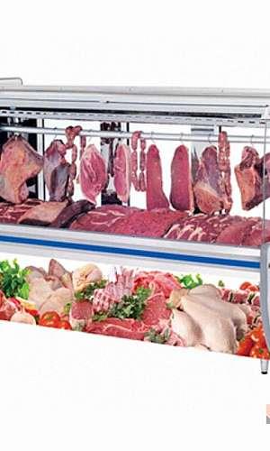 Expositor de carnes para açougue