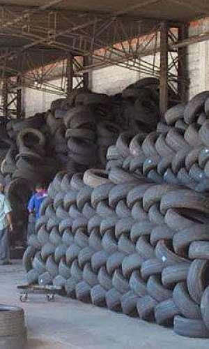 Ponto de coleta de pneus em SP